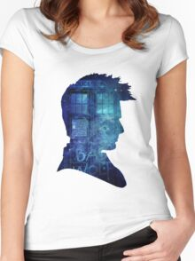doctor who-tenth doctor David Tennant Women's Fitted Scoop T-Shirt