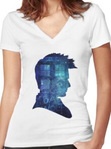 doctor who-tenth doctor David Tennant Women's Fitted V-Neck T-Shirt