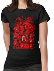 Evil Dead collage art Womens Fitted T-Shirt