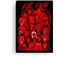 Evil Dead collage art Canvas Print
