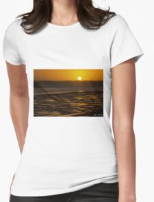 Tidal Pattern at Sunset Womens Fitted T-Shirt