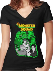 the Monster Squad Women's Fitted V-Neck T-Shirt