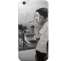Smoke Girl iPhone Case/Skin