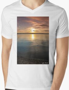 Sunset Over Puget Sound Mens V-Neck T-Shirt
