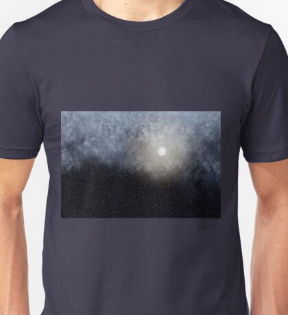 Glowing Moon in the night sky Unisex T-Shirt