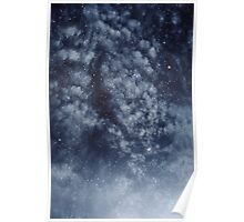 Blue veiled moon II Poster