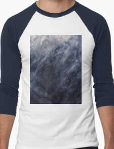 Blue Clouds, Blue Moon Men's Baseball ¾ T-Shirt