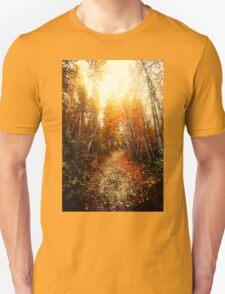 Red Forest, Washington in November Unisex T-Shirt