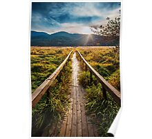 Boardwalk, October in Washington, Pacific Northwest Poster