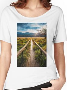 Boardwalk, October in Washington, Pacific Northwest Women's Relaxed Fit T-Shirt