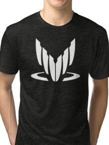 Mass Effect Spectre White Tri-blend T-Shirt