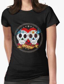 Love Skulls Womens Fitted T-Shirt