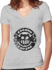 Eggman Empire Women's Fitted V-Neck T-Shirt