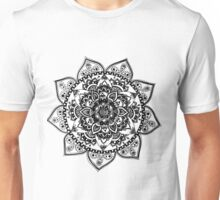 Black Flower Mandala Unisex T-Shirt