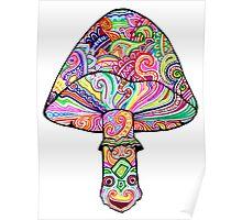 Swirly Mushroom Poster