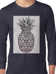 Boho ornamental pineapple fruit.  Long Sleeve T-Shirt