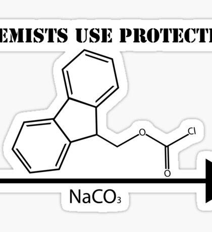 Chemists Use Protection Sticker