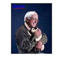 Bernie Sanders and His Cat Photographic Print