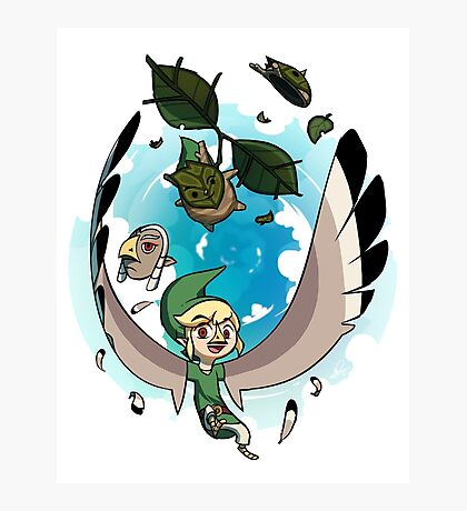The Masks of Wind Waker Photographic Print