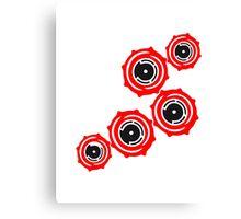 Many cool gears circular globe pattern design technology swirls cool futuristic Canvas Print