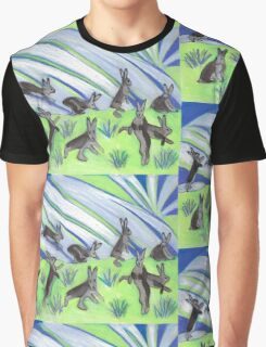 Ten Leaping Hares Graphic T-Shirt