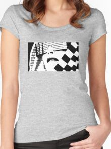 Kylie Minogue - In My Arms (black and white) Women's Fitted Scoop T-Shirt