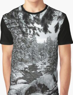 Colorado Winter River Graphic T-Shirt