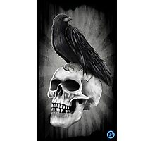 Crow and Skull Photographic Print