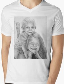 Brother and Sister Mens V-Neck T-Shirt