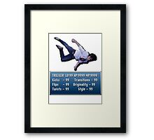 Tricking Stats - Pixel Dude version Framed Print