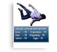 Tricking Stats - Pixel Dude version Canvas Print