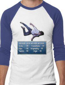 Tricking Stats - Pixel Dude version Men's Baseball ¾ T-Shirt