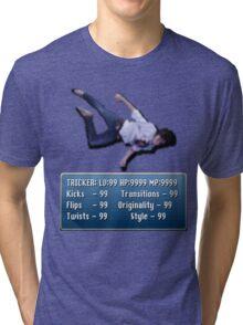 Tricking Stats - Pixel Dude version Tri-blend T-Shirt
