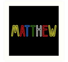 Matthew - Your Personalised Products Art Print