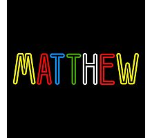 Matthew - Your Personalised Products Photographic Print