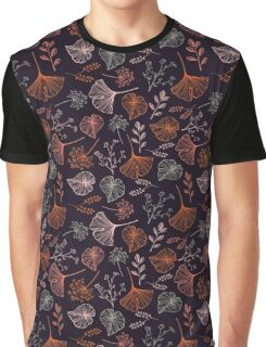 Hand drawn leaves and herbs seamless pattern. Graphic T-Shirt