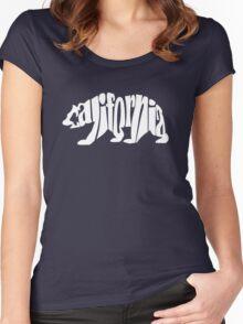 white california bear Women's Fitted Scoop T-Shirt