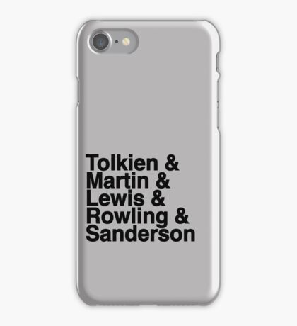 Best Fantasy Authors iPhone Case/Skin