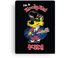 KOOLY KAT KIDS - On Black Canvas Print