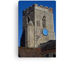 Medieval Church Tower, Kedington Canvas Print
