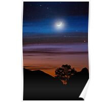 Big Bend Moon Poster