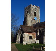 Porch & Tower, Kedington, Suffolk Photographic Print