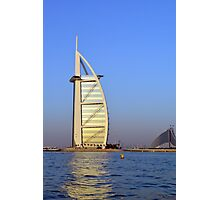 Photography of Burj al Arab hotel from Dubai. United Arab Emirates. Photographic Print