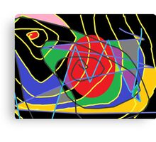Concept of confused abstract Canvas Print