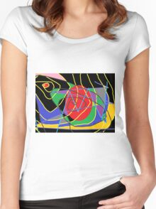 Concept of confused abstract Women's Fitted Scoop T-Shirt