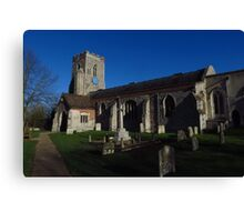 St Peter & St Paul, Kedington, Suffolk Canvas Print
