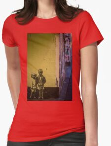 Seattle, Post Alley mural wall art Womens Fitted T-Shirt