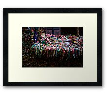 The Gum Wall, Seattle Framed Print