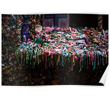 The Gum Wall, Seattle Poster