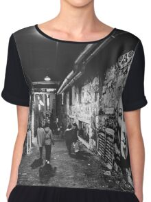 Seattle, Post Alley murals Chiffon Top